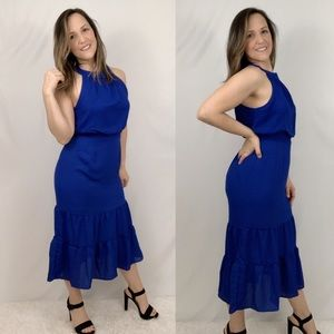 NSR Dorothy Ruffle Midi Dress